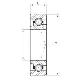 ISO 71968 A roulements à billes à contact oblique