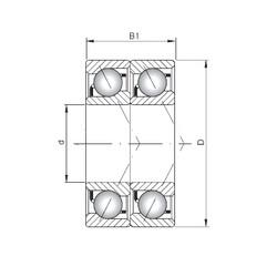 ISO 7016 CDT roulements à billes à contact oblique