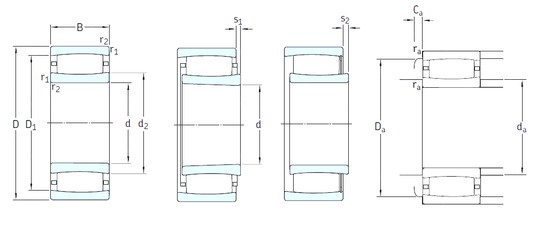 320 mm x 480 mm x 121 mm  SKF C3064KM roulements à rouleaux cylindriques