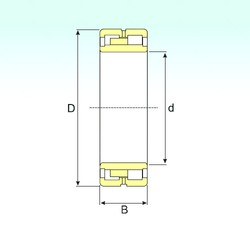900 mm x 1280 mm x 375 mm  ISB NNU 40/900 M/W33 roulements à rouleaux cylindriques