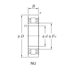240 mm x 500 mm x 95 mm  KOYO NU348 roulements à rouleaux cylindriques