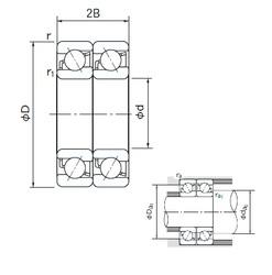 105 mm x 190 mm x 36 mm  NACHI 7221BDT roulements à billes à contact oblique