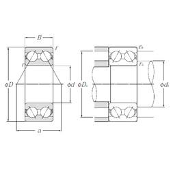 60 mm x 130 mm x 54 mm  NTN 5312S roulements à billes à contact oblique