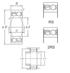 55 mm x 120 mm x 49.2 mm  KOYO 5311-2RS roulements à billes à contact oblique