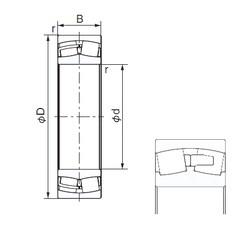 670 mm x 980 mm x 308 mm  NACHI 240/670E roulements à rouleaux cylindriques