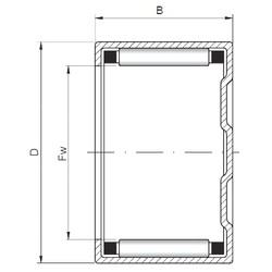 ISO BK303824 roulements à rouleaux cylindriques