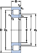 100 mm x 180 mm x 46 mm  SKF NUP 2220 ECML butées à billes