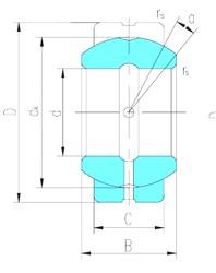 60 mm x 105 mm x 63 mm  LS GEG60ES paliers lisses