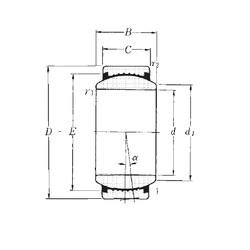 50 mm x 75 mm x 35 mm  NTN SAR1-50 paliers lisses