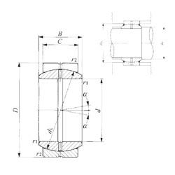 70 mm x 105 mm x 49 mm  IKO GE 70ES paliers lisses