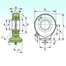 80 mm x 120 mm x 55 mm  ISB T.A.C. 280 paliers lisses