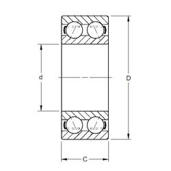 30 mm x 62 mm x 23,83 mm  Timken 5206W roulements à billes à contact oblique