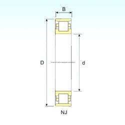 90 mm x 160 mm x 30 mm  ISB N 218 roulements à rouleaux cylindriques