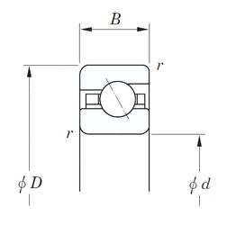 127 mm x 139,7 mm x 6,35 mm  KOYO KAA050 roulements à billes à contact oblique