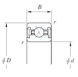 114,3 mm x 133,35 mm x 12.7 mm  KOYO KUX045 2RD roulements à billes à contact oblique