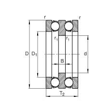65 mm x 115 mm x 10 mm  FAG 52216 butées à billes