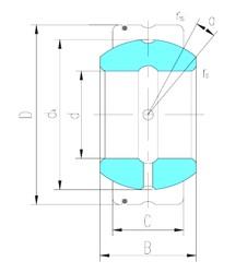 15 mm x 26 mm x 13 mm  LS GE15XS/K paliers lisses