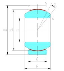 38,1 mm x 61,913 mm x 33,325 mm  LS GEZ38ET-2RS paliers lisses