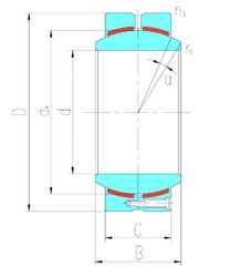 300 mm x 430 mm x 212 mm  LS GEH300HC paliers lisses