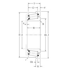 63,5 mm x 120 mm x 32 mm  Gamet 130063X/130120C Roulements à rouleaux coniques