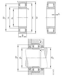 170 mm x 360 mm x 72 mm  FAG NU334-E-M1 roulements à rouleaux cylindriques