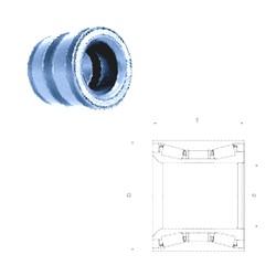 55 mm x 90 mm x 55 mm  PFI PW55900055CSHD Roulements à rouleaux coniques