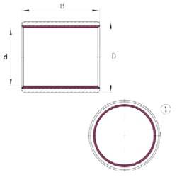 25 mm x 28 mm x 10 mm  INA EGB2510-E40 paliers lisses