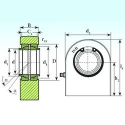 125 mm x 180 mm x 125 mm  ISB T.P.N. 7125 CE paliers lisses