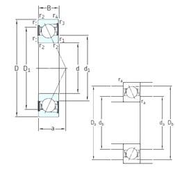 25 mm x 52 mm x 15 mm  SNFA E 225 /S /S 7CE1 roulements à billes à contact oblique