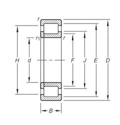 35 mm x 72 mm x 23 mm  Timken NUP2207E.TVP roulements à rouleaux cylindriques