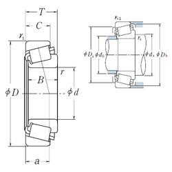 33,338 mm x 69,012 mm x 19,583 mm  NSK 14131/14276 Roulements à rouleaux coniques
