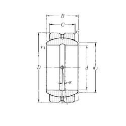 114,3 mm x 177,8 mm x 100 mm  NTN SA2-72B paliers lisses