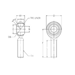 12 mm x 30 mm x 12 mm  NMB RBT12E paliers lisses