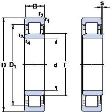 160 mm x 240 mm x 48 mm  SKF NU 2032 ECMA butées à billes