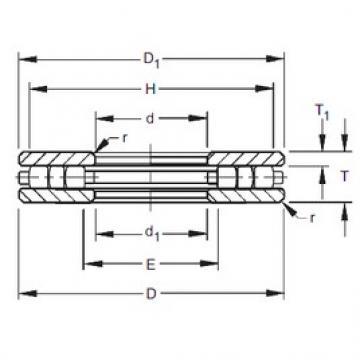 Timken 40TP117 roulements à rouleaux de poussée