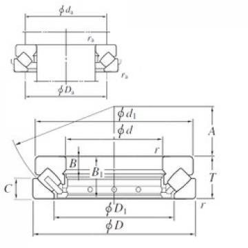 320 mm x 580 mm x 55 mm  KOYO 29464R roulements à rouleaux de poussée