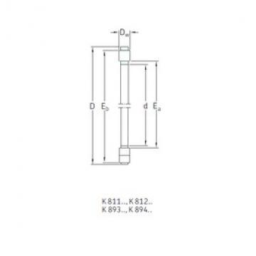 SKF K81224TN roulements à rouleaux de poussée