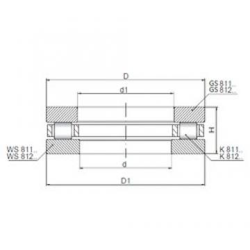 ISO 81114 roulements à rouleaux de poussée
