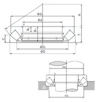 180 mm x 360 mm x 39 mm  NACHI 29436E roulements à rouleaux de poussée