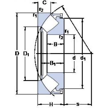70 mm x 150 mm x 31 mm  SKF 29414 E roulements à rouleaux de poussée