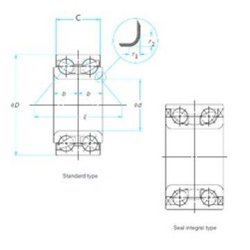 38 mm x 72 mm x 34 mm  FAG FW925 roulements à billes à contact oblique