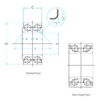 39 mm x 77 mm x 40 mm  FAG SA0056 roulements à billes à contact oblique