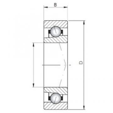 ISO 71901 A roulements à billes à contact oblique