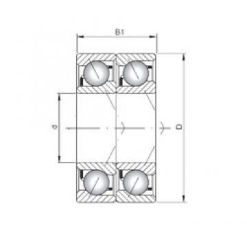 ISO 7218 BDT roulements à billes à contact oblique