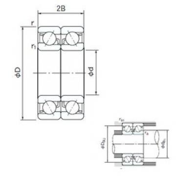90 mm x 190 mm x 43 mm  NACHI 7318DB roulements à billes à contact oblique