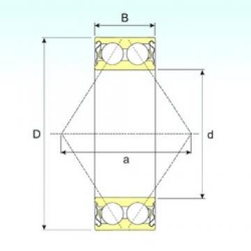 100 mm x 180 mm x 60,3 mm  ISB 3220-ZZ roulements à billes à contact oblique