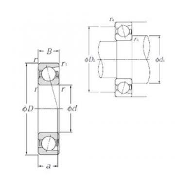 160 mm x 200 mm x 20 mm  NTN 7832C roulements à billes à contact oblique