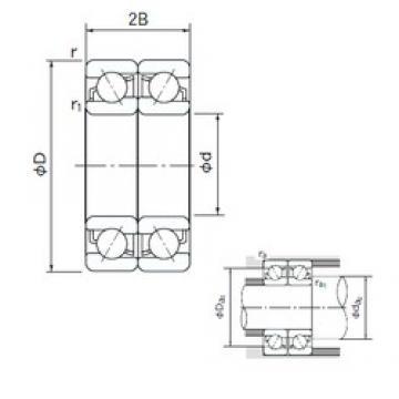 35 mm x 72 mm x 17 mm  NACHI 7207DF roulements à billes à contact oblique