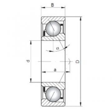 100 mm x 180 mm x 34 mm  ISO 7220 A roulements à billes à contact oblique