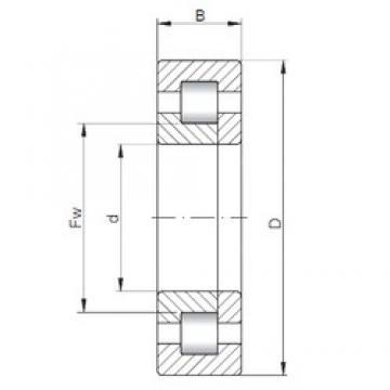 150 mm x 320 mm x 65 mm  ISO NUP330 roulements à rouleaux cylindriques